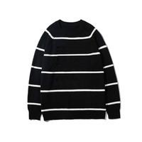 Kaufen Sie im Großhandel Schwarzer Roter Pullover Streifen
