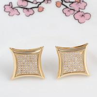 ingrosso annata c-Marca diamante lettera c matrimonio Orecchini donna uomo lusso bianco zircone orecchini oro argento rosa Vintage gioielli geometrici all'ingrosso