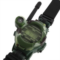 "relojes radios al por mayor-50 pares de radio LCD 7 en 1 0,8"" 50 ~ 150M de Relojes Walkie Talkie w / Lights Mic"