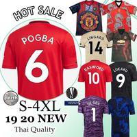usa futbol forması kiti toptan satış-Pogba FC manchester futbol forması 2019 2020 Lingard Lukaku RASHFORD futbol forması B. FERBANDES WILLIAMS United Utd 19 20 üniformalar Tayland