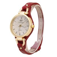 Wholesale leather belts for wrist watch for sale - Fashion Top Casual Quartz Watch For Women Thin Leather Strap Wrist Watches Luxury Ladie Gold Creative Wristwatch