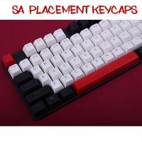 bolas de teclado venda por atacado-104 Teclas / set SA Altura Keycaps Nova Chegada Duplo-Shot Backlit Bola PBT Carbo Chave Caps Para Cherry MX Teclado Mecânico