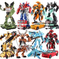 Wholesale robot toys sale resale online - Top Sale cm Model Transformation Robot Car Action toys Plastic Toys Action Figure Toys BEST Gift For Education Children quot