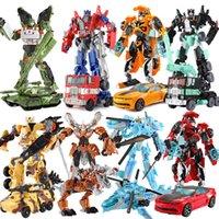 ingrosso vendita giocattoli robot-Top vendita 19.5 cm modello trasformazione robot car action giocattoli giocattoli di plastica action figure giocattoli regalo migliore per l'istruzione bambini 7.5