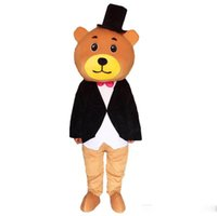 mascotes de urso adulto venda por atacado-2019 Urso de pelúcia de alta qualidade mascote carnaval festa de fantasia Fantasia de pelúcia lindo andar Teddy bear mascot tamanho adulto.