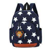 детские рюкзаки оптовых-Stars Printing Nylon Children Backpacks Kids Kindergarten School Bags Backpacks Baby Boys Girls Nursery Toddler Cute Rucksack