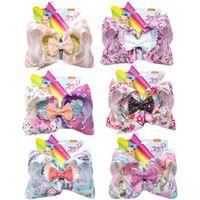 Wholesale angel hair for sale - Group buy 7 Inch JO Bows Cartoon Horse Print Hair Bows Alligator Clips Glitter Angel Wing Hairpins Fashion Headwear Kids Hair Accessories M828