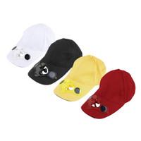casquettes de cyclisme cool achat en gros de-Chapeau de chapeau de sport en plein air d'été avec ventilateur solaire Sun Power Cool For Cycling livraison gratuite capuchon de ventilateur solaire logo personnalisé