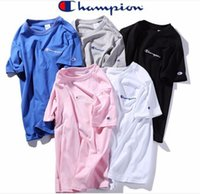 bordados blusa xl venda por atacado-Marca Tees Tops Top Quality 100% Algodão Bordado Mulheres camiseta Casual O Pescoço Mulheres T-shirt Novo Designer Blusa Mulher Camisetas