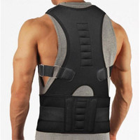 neopreno espalda apoyo deportivo al por mayor-2018 Neoprene Back Support Sports Back Belts Soportes de alta calidad Postura Lumbar Support For Black Corsets # 655407
