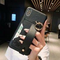 ingrosso copertura dura del titolare della carta-Custodie per telefoni di lusso per cover di designer famosi per iPhone X XR XS Max 8 7 6 6s Plus Custodia rigida in pelle per slot per schede in pelle con guscio per schede 508