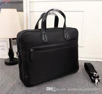 Wholesale hard briefcases for men resale online - 2019 The latest Fashion classic bags Black Large capacity briefcase man handbag for men use Size cm