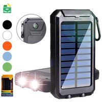 Wholesale solar powered mobile phone chargers for sale – best Solar Power Bank mAh Dual USB Output External Battery Outdoor Travel Waterproof Charger Powerbank For Mobile Phone