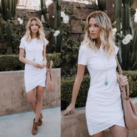 Wholesale wholesale womens clothing online - 2019 New Womens Bodycon Dresses Fashion Women Solid Color Casual Skirts Womens Streetwear Style Dress Ladies Clothing Size S XL