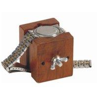 Wholesale vintage wood case resale online - Wooden Watchmakers Case Movement Holder Clamp Repairing Vintage Watch Wood