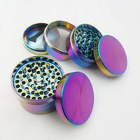 Wholesale spice grinder color for sale - Group buy Mini Layers Herb Grinder Rainbow Laser Color Zinc Alloy Tobacco Grinders mm mm mm mm Diameter Spice Crusher Grinder IB