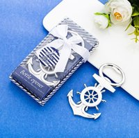 Wholesale wedding souvenirs favors resale online - New Creative Metal Opener Anchor Rudder Beer Bottle Opener Sea Theme wedding favors for guests souvenirs XD23245