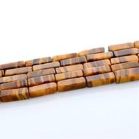 pyrit gold großhandel-Großhandel 1 strang / lot braune naturstein perlen zubehör diy armband halskette spacer perlen für schmuck machen