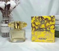 ambientador natural venda por atacado-Mulher Perfume diamante amarelo frutado fragrância Natural spray 90ml de alta qualidade / 3.0fl.oz Eau De Freshener