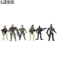 Wholesale model boys american online - 12Pcs set American Soldiers Military Model Toy Heroic Soldier Modeling Movable Joints Toys for Boys Toys Gift for Children