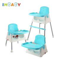ingrosso seggiolone per bambini pieghevole-IMBABY alta sedia di alimentazione della sedia di sede del ripetitore per bambini Sedie pieghevole regolabile bambini seggiolino seggiolino Mangiare Seats CJ191217