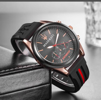 Wholesale men army waterproof quartz watch for sale - Group buy 2019 Gift Men Gold Silicone Watches Quartz Watch Analog Waterproof Sports Army Military WristWatches