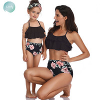 Wholesale family suits for sale - Group buy Family Bikini Bathing Suits Mother Girl Swimsuit For And Daughter Swimsuits Female Children Baby Kid Beach Swimwear