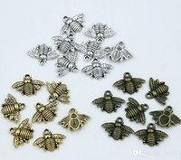 Wholesale gold silver bronze earrings for sale - Group buy MIC Antique silver Gold Bronze Zinc Alloy Lovely Bee Charms Pendants x20mm DIY Jewelry Fit Bracelets Necklace Earrings