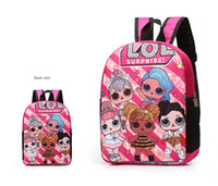 Wholesale anime printed backpack for sale - Group buy Surprise Grils Cartoon Backpack Children Lovely Shoulder Bag Anime Kids Student School Bag Outdoor Travel Printed Rucksack Bags Hot B71803