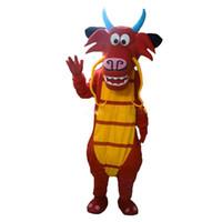 ingrosso cinese vestito di natale-I costumi della mascotte del drago di Mushu di alta qualità da vendere il drago del costume del costume del costume della mascotte del drago dell'alfalfa liberano il trasporto