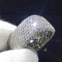 Luxe 925 Silver White Sapphire Ring proposition Anniversaire Bijoux Cadeau Taille 6-10