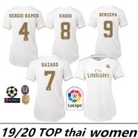 weibliche fußball-uniformen großhandel-Frauen Trikots 2019 Real Madrid Home # 7 HAZARD # 11 BALE Fußball Trikots 19/20 weibliche Fußball Trikots angepasst Frauen Fußball Uniformen On Sale