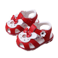 Wholesale baby girl cute sandals for sale - Group buy Summer Baby Girls Kids Toddler Shoes Children Fashion Beach Cute Rabbit Soft Bottom Infant LED Design Sandals