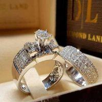 precio de diamante rubí al por mayor-Nuevo anillo de diamante de simulación de ocho flechas de diamante de lmitación completa con incrustaciones de circonio anillos de compromiso hombres anillo CC645