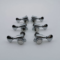 Wholesale guitar locks resale online - RARE Chrome Guitar Machine Heads Locking String Tuning Pegs Tuners for Electric Guitars