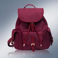 pequenos sacos de lona venda por atacado-Nova Moda Lona Mulheres Mochila Cordão Sacos De Escola para Adolescentes Meninas Mochila Pequena Mochila Feminina Mochilas Feminina