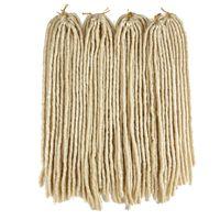 Wholesale 18 inch blonde braiding hair for sale - Group buy 5Packs Blonde Goddess Faux Locs Crochet Hair Extensions Low Temperature Fiber Crochet Braids Twist Soft Dreadlocks Synthetic Braiding Hair