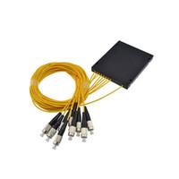 Wholesale upc fiber connector resale online - FTTH ABS Box x16 FC UPC PLC Fiber Optical Splitter with FC UPC Connector Planar waveguide type Optical splitter