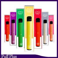 Newest Puff bar Plus Disposable cigarette Device empty Pod Starter Kit Upgraded 550mAh Battery 3.2ml Cartridge Vape