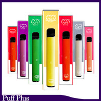 Newest Puff bar Plus Disposable Device empty Pod Starter Kit Upgraded 550mAh Battery 3.2ml Cartridge Vape 8 color VS xtra puff