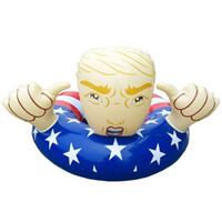 ingrosso bandiera galleggiante-American Swim Circle Flag Trump Gonfiabile Galleggiante Salvagente Adulto Bambini Nuoto Anello Addensare Eco Friendly Altro Colore 45ss C1