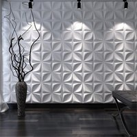 Wholesale art panels for wall for sale - Group buy 3D Art Wallboard Geometric Cut Diamond Wood Carved Wall Sticker D Background Wall Panel Decorative Board House Decor