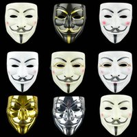 mascara blanca de dibujos animados al por mayor-Máscara de la venganza 8 estilos de película de dibujos animados de Halloween Horror máscara blanca Molienda la decoración del partido Máscaras 50pcs OOA7247