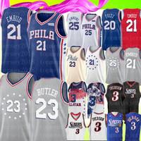 6a6b7d872 Joel 21 Embiid Allen 3 Iverson NCAA University Jersey Jimmy # Butler Ben 25  Simmons Markelle JJ # Redick Retro Mesh 3 Basketball