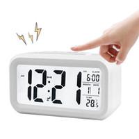 horloge date température achat en gros de-BRELONG Numérique Mois Température Date Affiche Snooze Alarm Clock Night Light Blanc Noir Rouge Bleu Vert