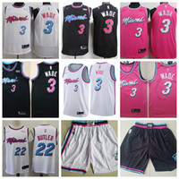 Wholesale heat jerseys for sale - Group buy 2019 New Cheap Jimmy and Butler Miami CITY Heat dwayne wade jersey game player s Dwyane basketball jerseys