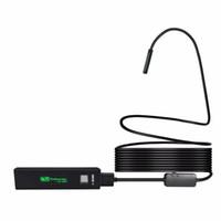 ingrosso specchio dell'endoscopio-1200P HD WiFi macchina fotografica di controllo dell'endoscopio 3.5m Tubo 8 millimetri impermeabile 8 Trasmettitore Wireless LED con l'obiettivo a test all'aperto