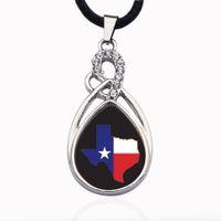texas schmuck großhandel-Texas Pride Circle Charm Zinklegierung Kugelkette Halskette Lange Gliederkette Modeschmuck