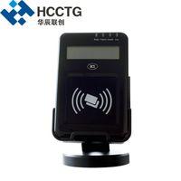 leitores de cartões de acesso venda por atacado-13,56 Hot ISO 14443 USB Visual Vantage Access Control NFC leitor de cartão com display LCD ACR1222L