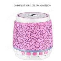 Wholesale mp3 player speaker dock resale online - Outdoor Bluetooth Audio Colorful Lights Wireless Bluetooth Speaker S2 Crack Plug in Card Subwoofer MP3 Music Player